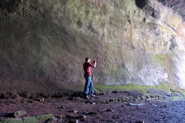 Rico Cave in the Genesee River gorge near Lower Falls. [Flickr PHOTO: bobbybeans]