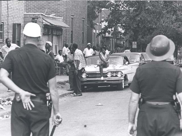 Scene from the Rochester riots, July 24-26, 1964. [PHOTO: Rochester Municipal Archives]