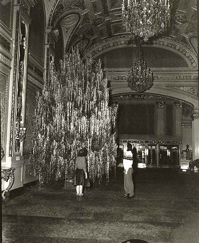 The RKO Palace Theater's front lobby. [PHOTO: Rochester Theater Organ Society via our good friend Howard Decker