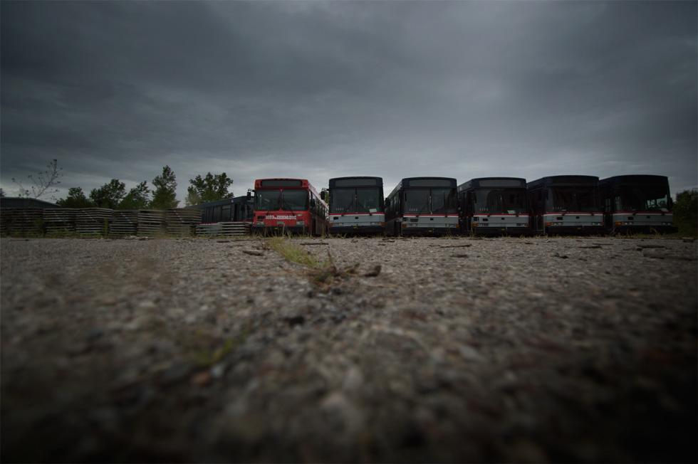 RTS bus graveyard. [PHOTO: RochesterSubway.com]