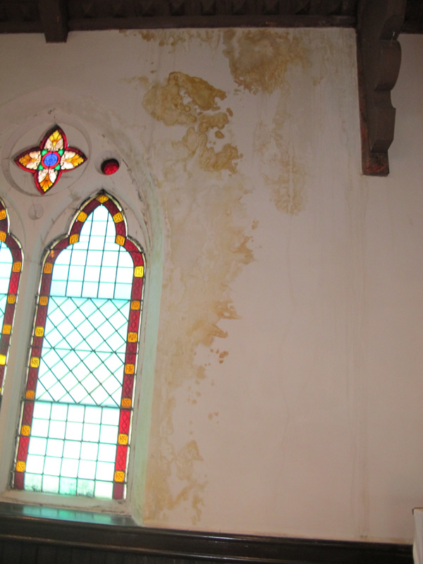 Winter ice dams and water damaged the interior of the historic Calvary St. Andrew's Presbyterian Church. A local painter has stepped up to help repair the damage. [PHOTO: Provided]