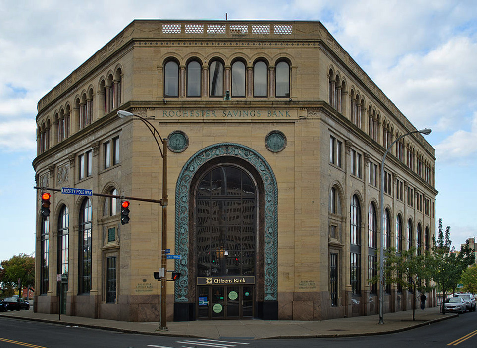 Rochester Savings and Loan building. 40 Franklin Street. [IMAGE: The American Architect]