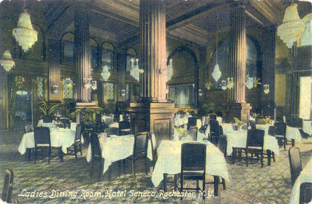 The Ladies Dining Room. [IMAGE: Vintage Postcard, Rochester Public Library]