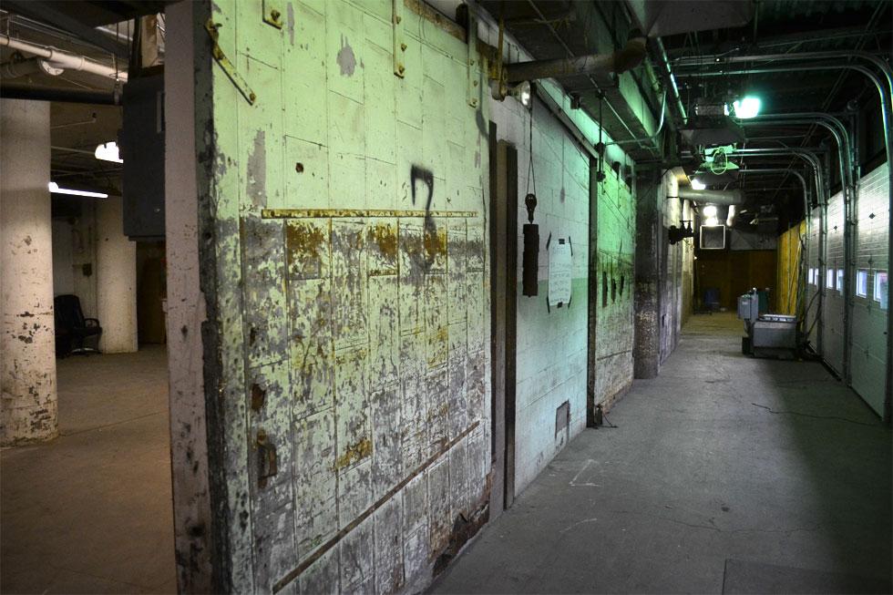 Sibley building loading docks. [PHOTO: RochesterSubway.com]