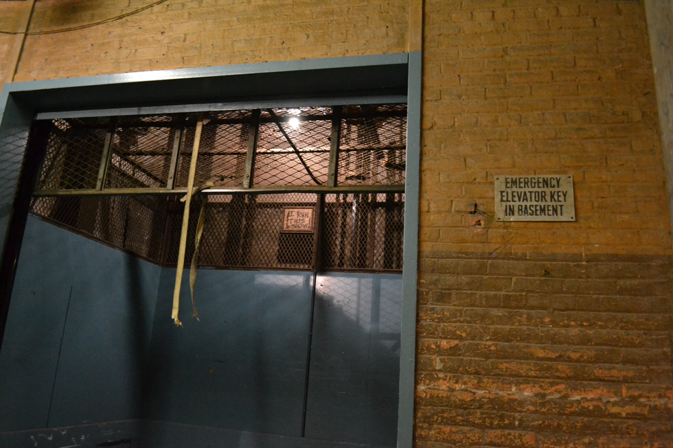 Sibley building freight elevator. [PHOTO: RochesterSubway.com]