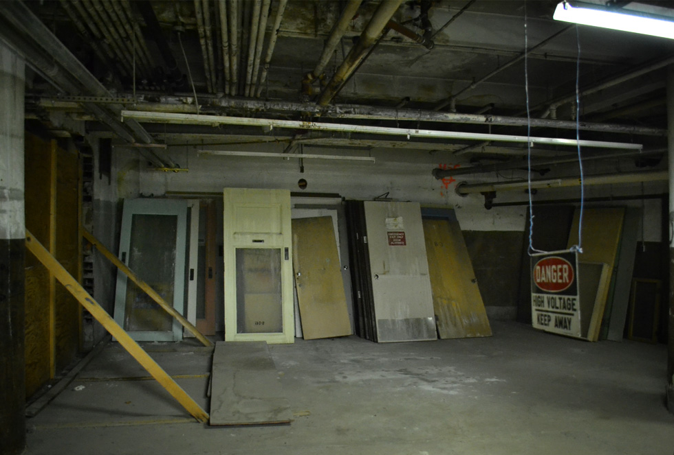 Sibley's department store basement. [PHOTO: RochesterSubway.com]