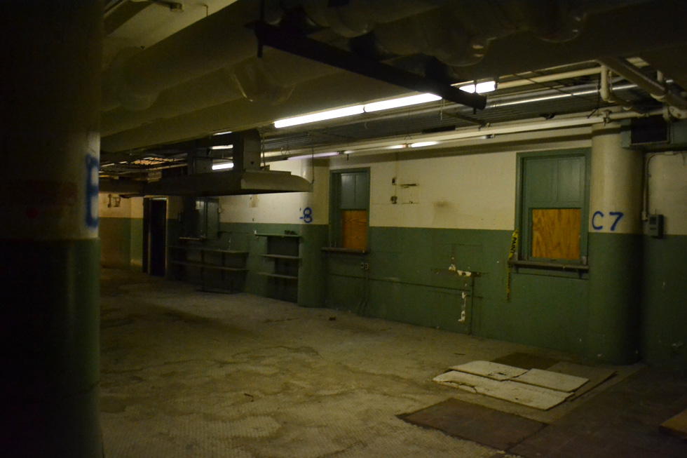 This looks like it could have been a cafeteria – for employees maybe? Could also have been the phone-order department. [PHOTO: RochesterSubway.com]