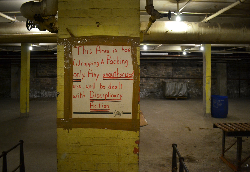 I wonder what else went on down here besides wrapping & packing? [PHOTO: RochesterSubway.com]