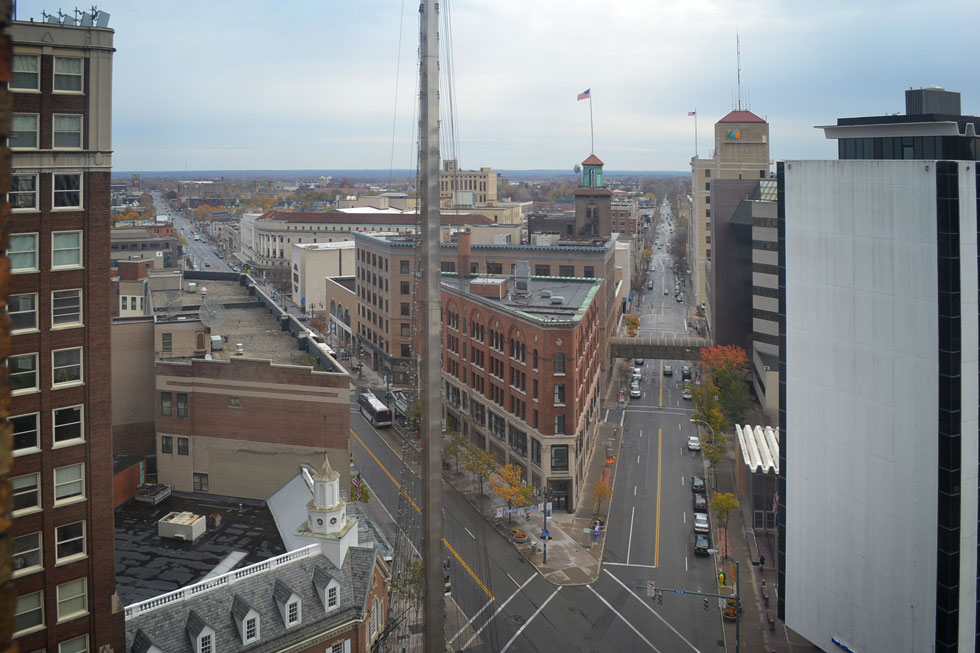 Here's the view looking down Main Street and East Ave. [PHOTO: RochesterSubway.com]