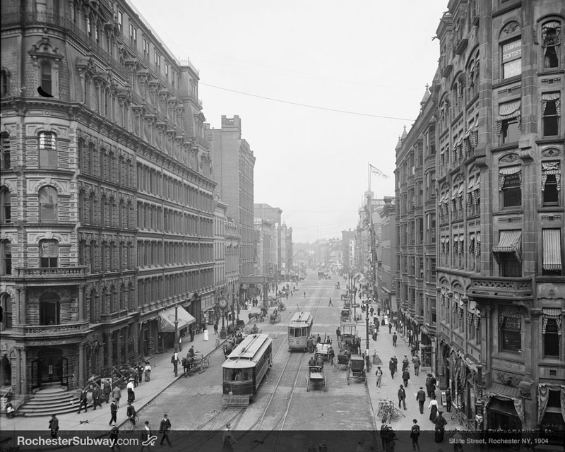 FREE PC Wallpaper: Rochester State Street, 1904