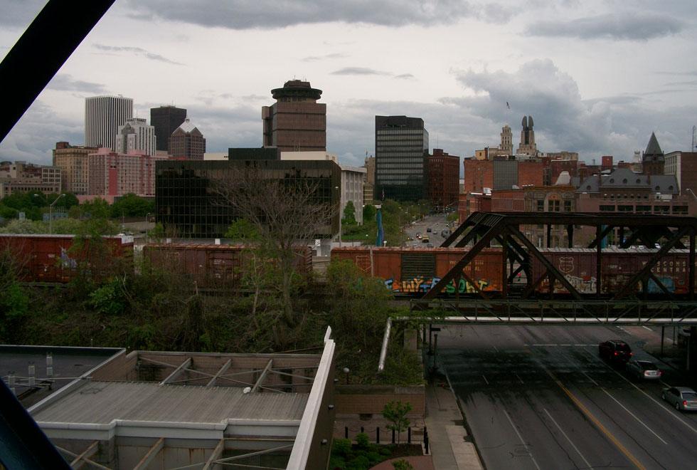 Rochester's concrete jungle just three blocks south.