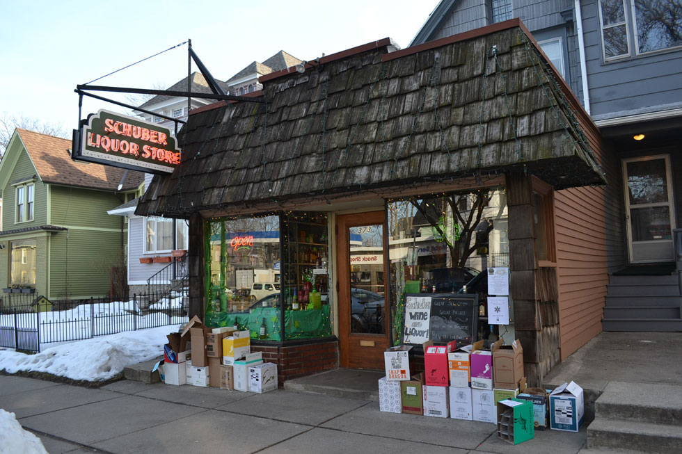 Schuber Liquor Store. Park Ave. Rochester, NY. [PHOTO: RochesterSubway.com]