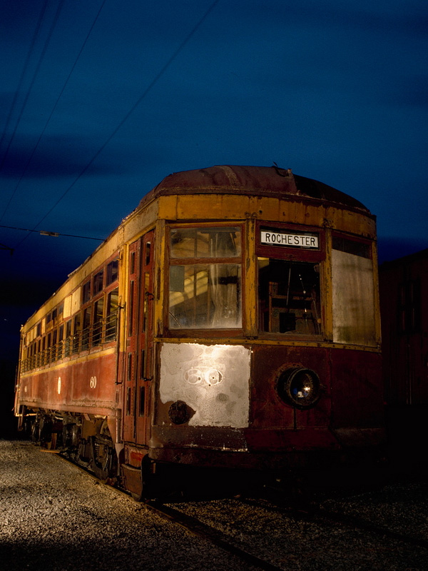 The last remaining Rochester subway car... #60. [PHOTO: Christopher Hauf, Rochester & Genesee Valley Railroad Museum]