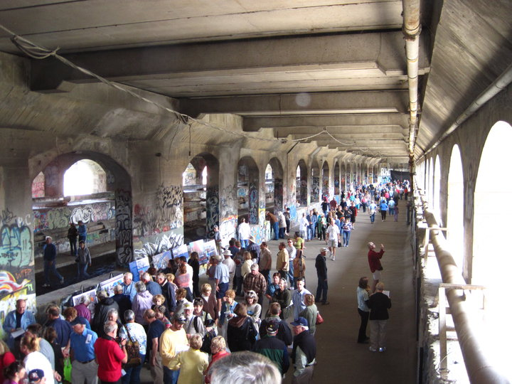 The Canal Society of New York State will be hosting tours of the Broad Street Aqueduct and subway tunnel this weekend. [PHOTO: Dag Lindquist]