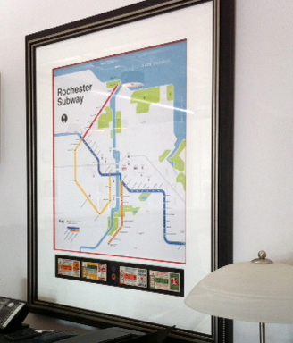 Get 20% off the Rochester Subway or Rochester Neighborhoods maps, then take it to Black Radish Studio for 25% off a custom framing job! Happy Holidays! [PHOTO: Black Radish Studio]