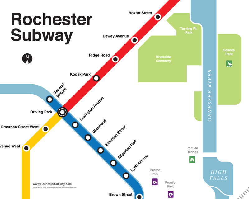 FREE PC Wallpaper: Rochester Subway Map