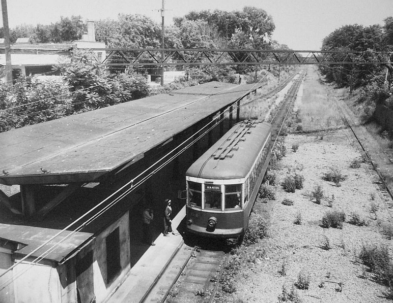 The Rochester subway station at Monroe Avenue (June 1956). The Rochester subway ended passenger service on June 30, 1956. [PHOTO: Rochester Municipal Archives]
