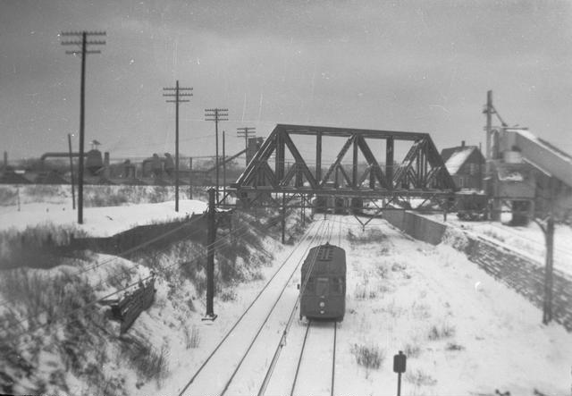 Except for a short stretch downtown, the subway was actually above ground. [PHOTO: Rochester Public Library]