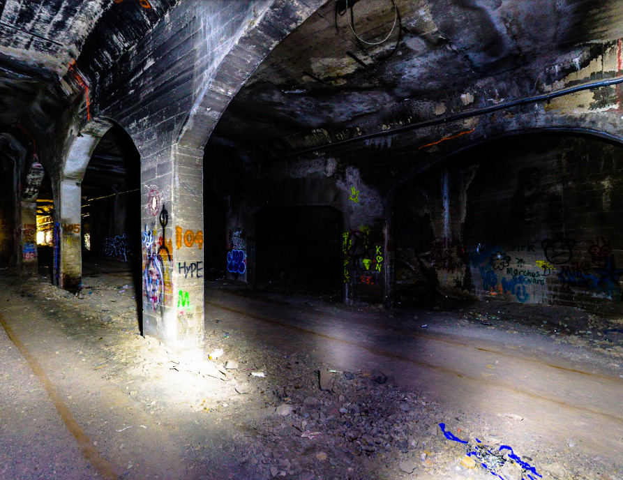 A local photographer has begun capturing the abandoned Rochester subway for viewing on Google Street View. [PHOTO: Mark Goho]