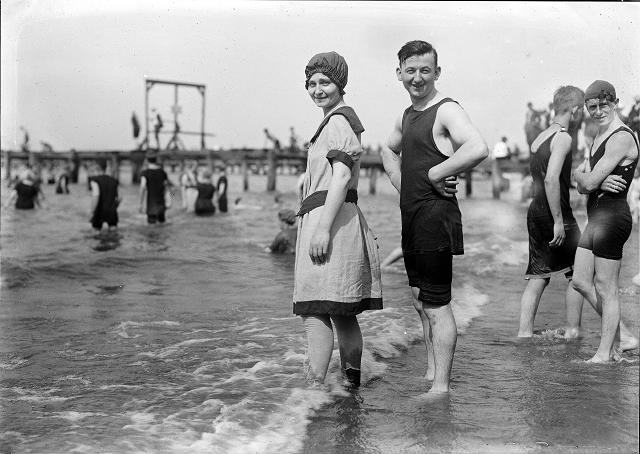 Vintage swimwear. Rochester NY. [IMAGE: Albert R. Stone]