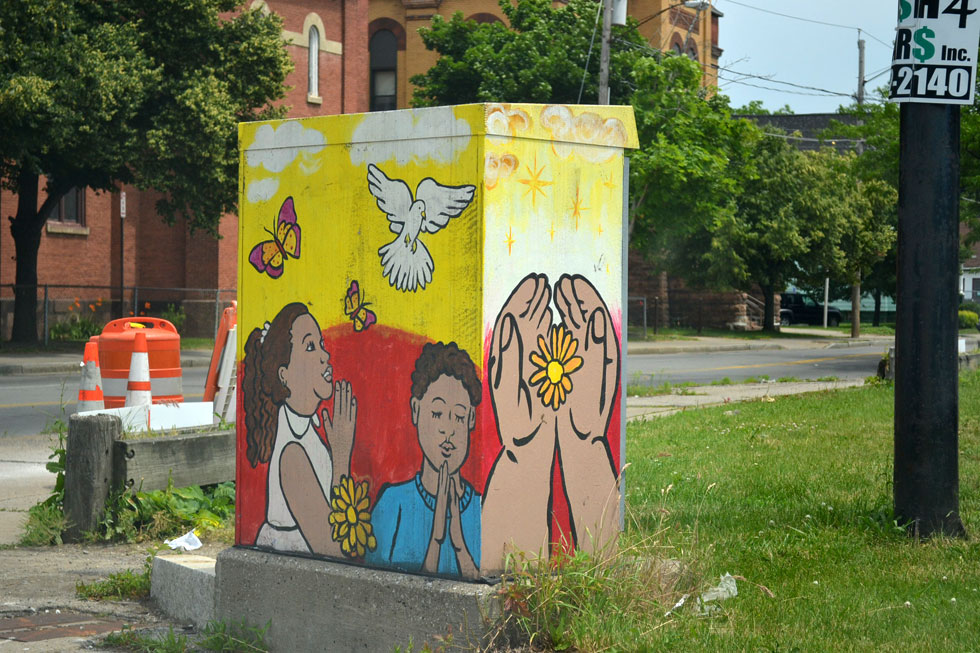 13 Traffic Signal Box Murals. [PHOTO: RochesterSubway.com]