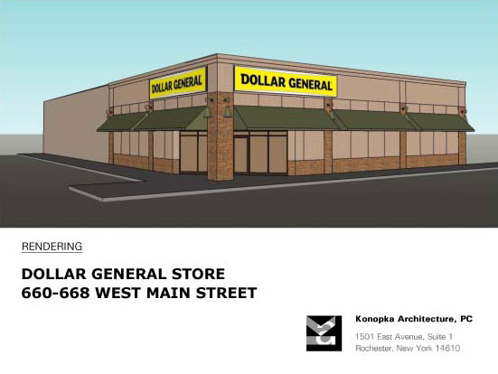 This is the proposed Dollar General to replace the church.