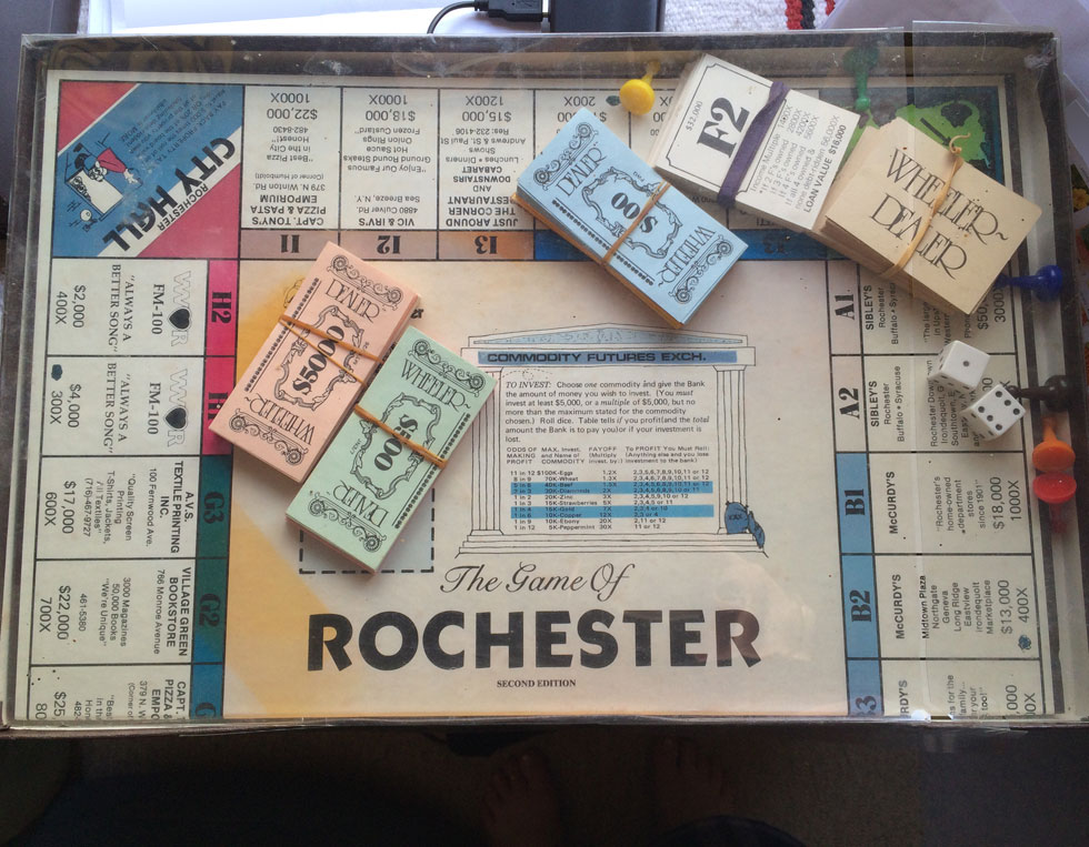 Wheeler Dealer board game, Rochester edition. c1980. [PHOTO: Laurie Dirkx]