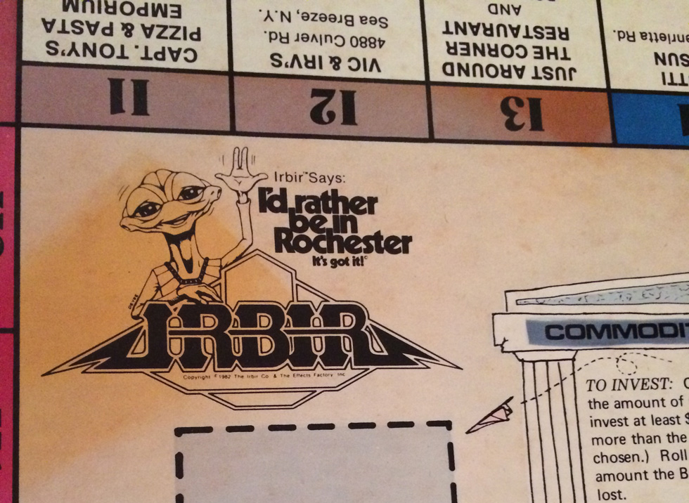 Do you recognize this guy? It's Irbir the alien, a Rochester mascot from the early 80s. [PHOTO: Laurie Dirkx]