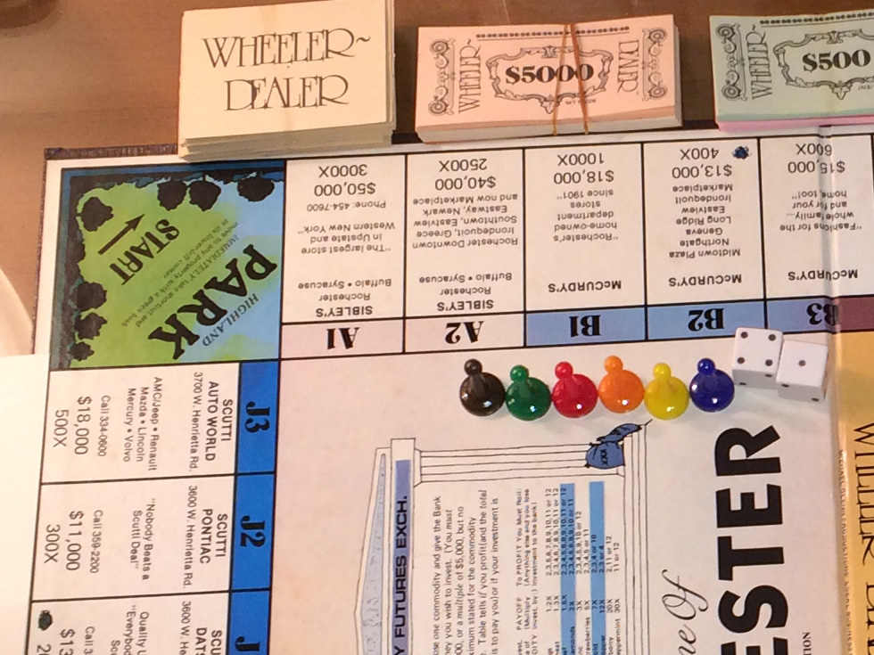 The Wheeler Dealer game is pretty neat. It features lots of local businesses from the time period and a few landmarks like Highland Park. [PHOTO: Laurie Dirkx]