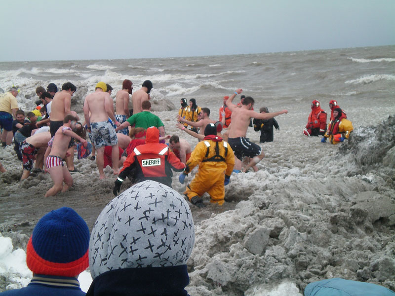 The Polar Plunge at the 2012 Lakeside Winter Celebration.