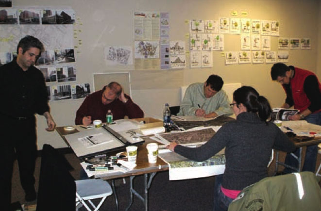 Hard at work at the January 2007 Downtown Design Charrette