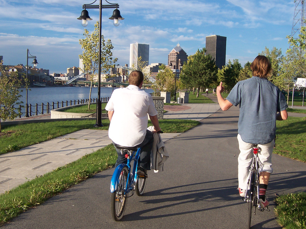 Rochester is a great city for off-road cycling. The City's Bicycle Master Plan Project will seek to elevate Rochester to full 'Bicycle Friendly Community' status with the League of American Bicyclists' Bicycle Friendly Communities Program. [PHOTO: from Tobo's Flickr stream]