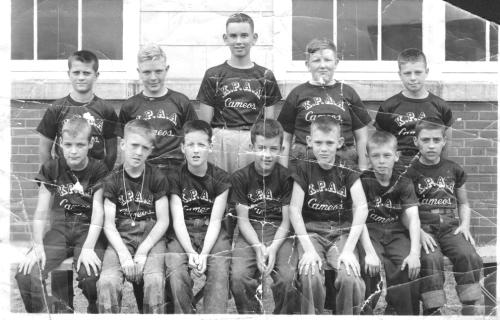 In the 1950's Patrick Eagan played softball as a kid for the Cameos (above). Games were sponsored by the Kodak Park Athletic Association and played at various fields in Rochester's northwest quadrant.