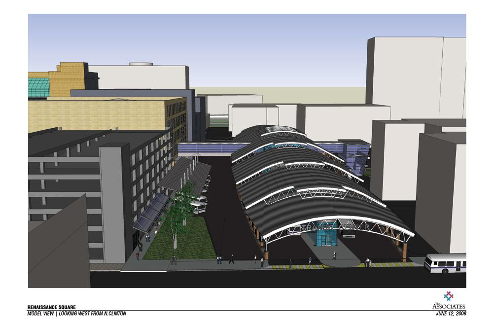 This is the Mortimer St. design for a transit center that was part of the Renaissance Square project. RGRTA still wants to build this portion of the project on Mortimer St.