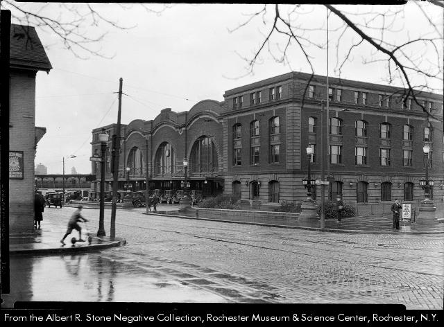An old photo of Rochester's Bragdon NY Central Station. Ranked #7 on a recent list of top 10 most beautiful demolished rail stations.
