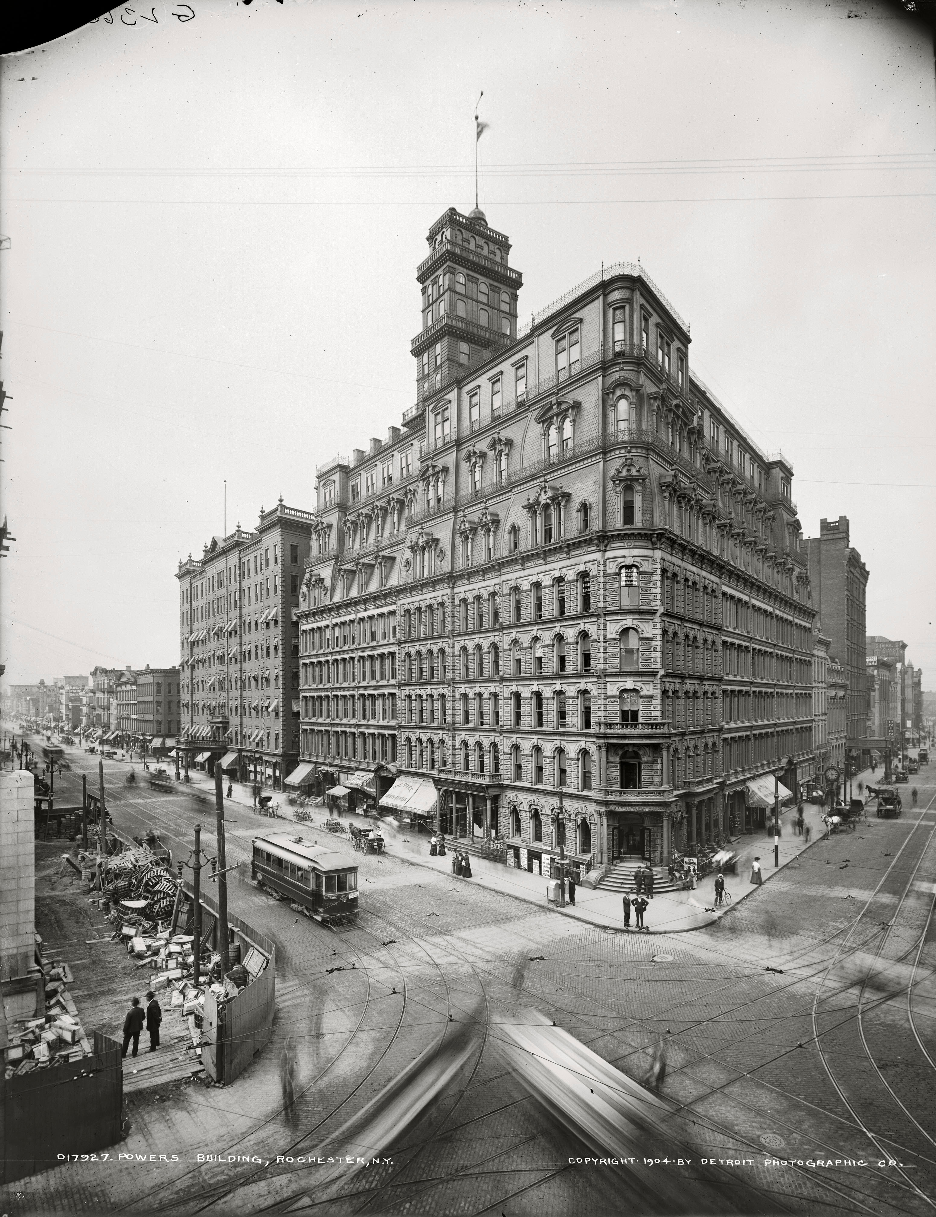 The Powers Building Rochester NY Photo Detroit Publishing 1904