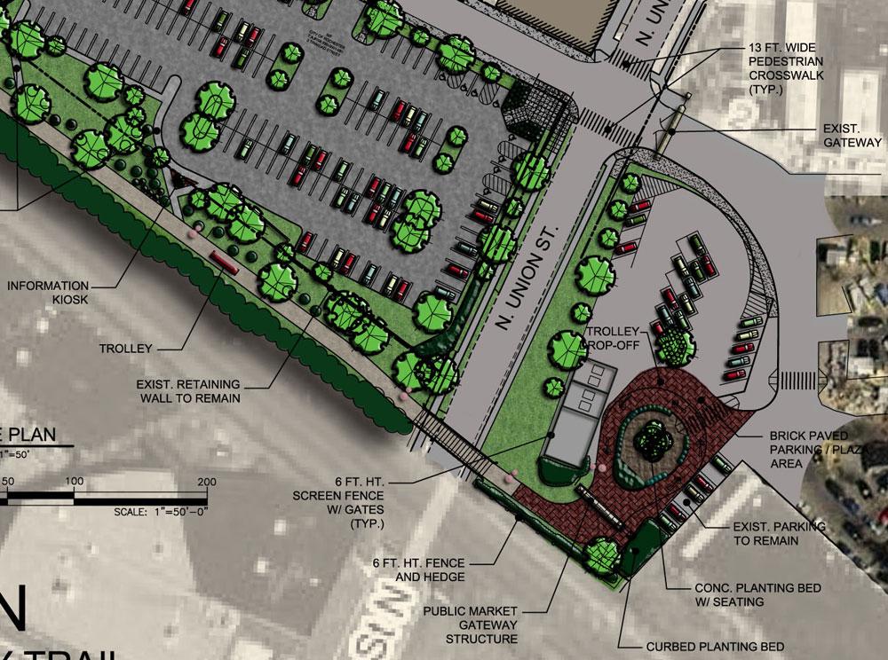 Concept Plan for the Public Market expansion project.