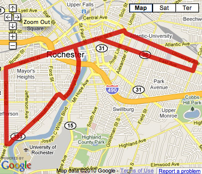 Proposed Rochester Streetcar Route