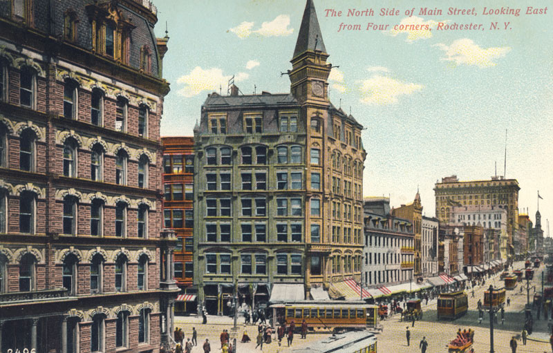 Rochester Streetcars on Main Street circa 1905.