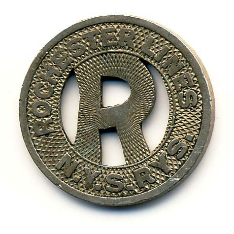 All tokens for sale on RochesterSubway.com are shown in awesome detail. What you see is what you get. This is a NYS Railways Token (1932-1938).