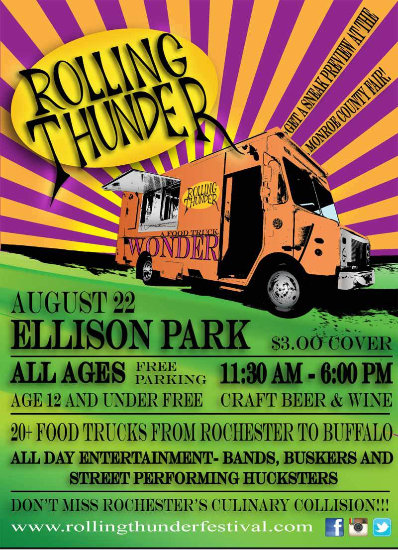 The Rochester Rolling Thunder Festival is coming to Ellison Park this Saturday. [IMAGE: Tin Man Events]