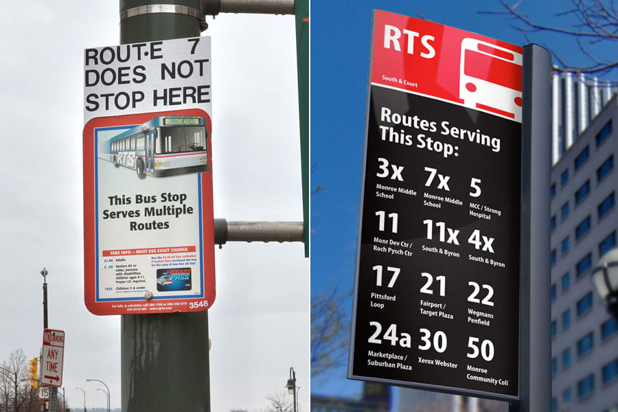 RTS Bus Stop Sign... MAKEOVER!