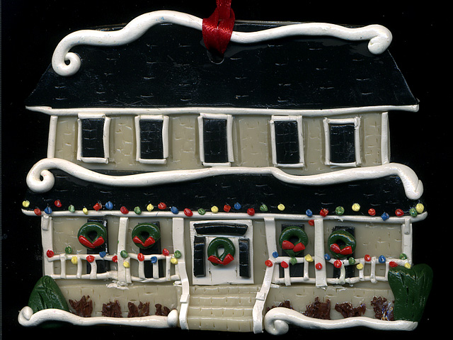 This holiday, why not give the gift of Sculpey... house ornaments by local artist Kimberly DiPietro.