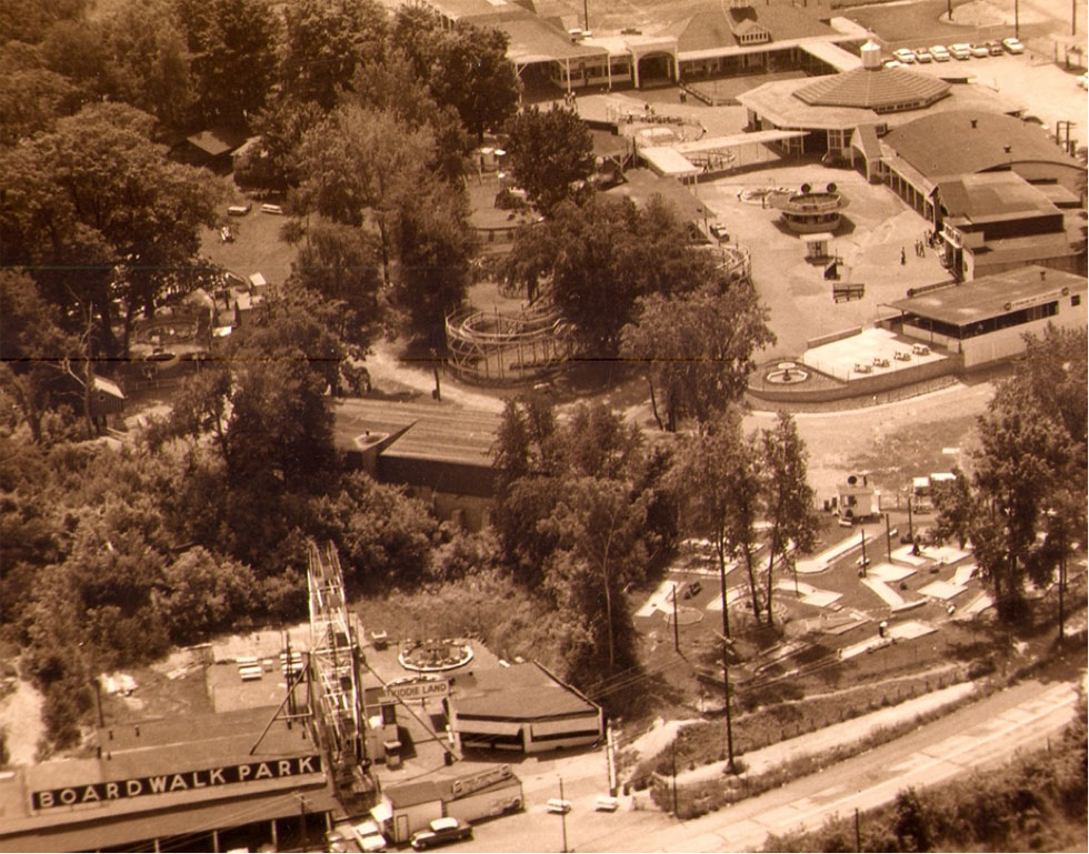Boardwalk Park was picked up and moved from the north side of Culver Road to the south side. It shut down in the 1950's. [PHOTO: Courtesy Seabreeze Amusement Park]