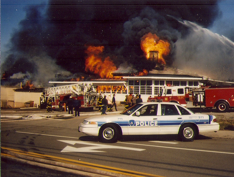 Roofers caused a fire that destroyed the Seabreeze carousel on March 31, 1994. [PHOTO: Courtesy Seabreeze Amusement Park]