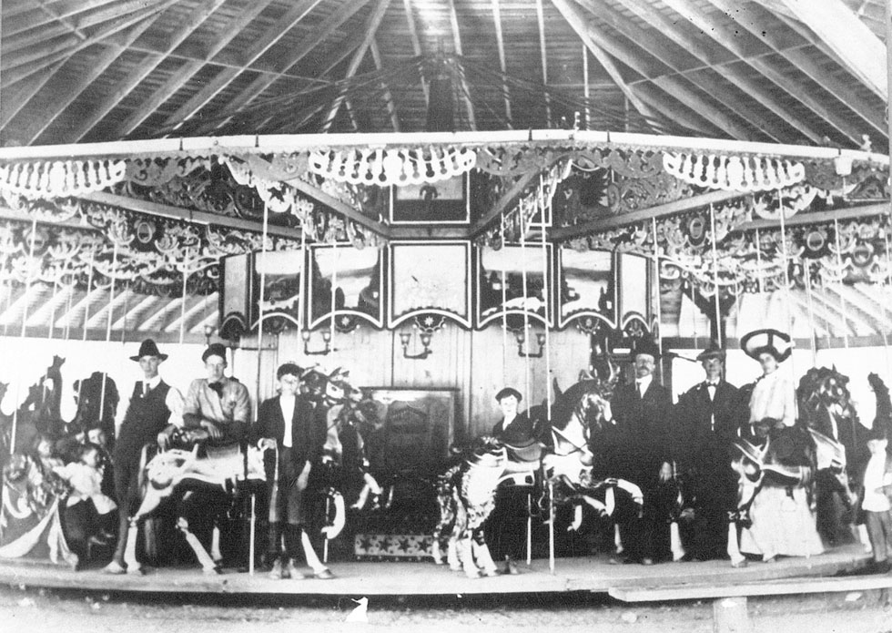 The first carousel brought to Seabreeze by George Long Sr., 1904. [PHOTO: Courtesy Seabreeze Amusement Park]