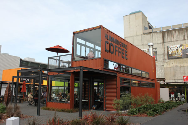 A pair of old shipping containers could make for a unique dining experience. [PHOTO: blog.uship.com]