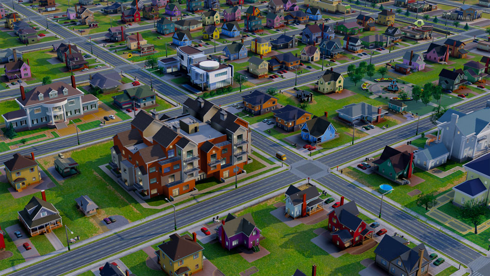 Rochester has three specific residential zones. R-1, R-2, and R-3. [IMAGE: SimCity via Tested.com]