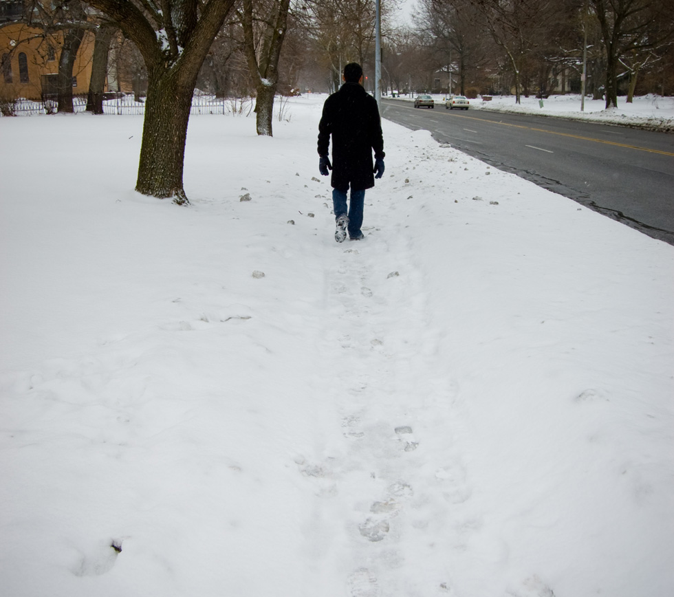 Sidewalk snow removal is a safety issue that requires action from all of us. [PHOTO: Nearsoft Inc, Flickr]