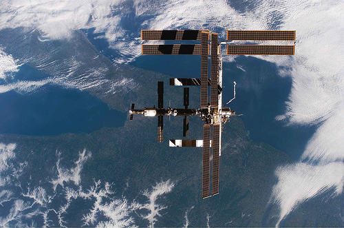 International Space Station floating over Rochester and Western New York.